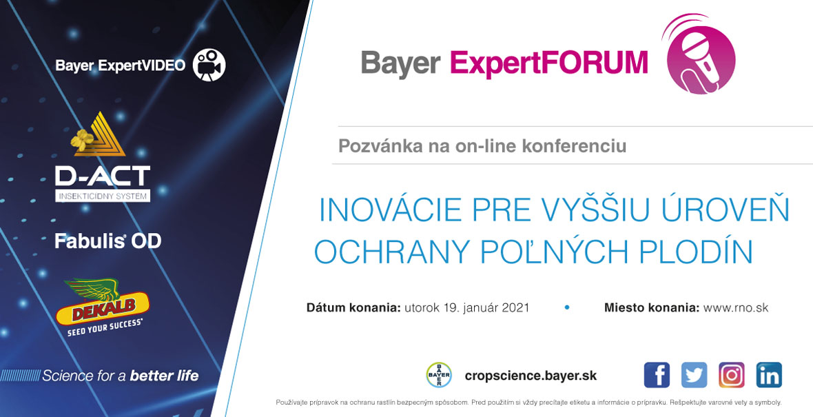 On-line konferencia Bayer ExpertFORUM 2021